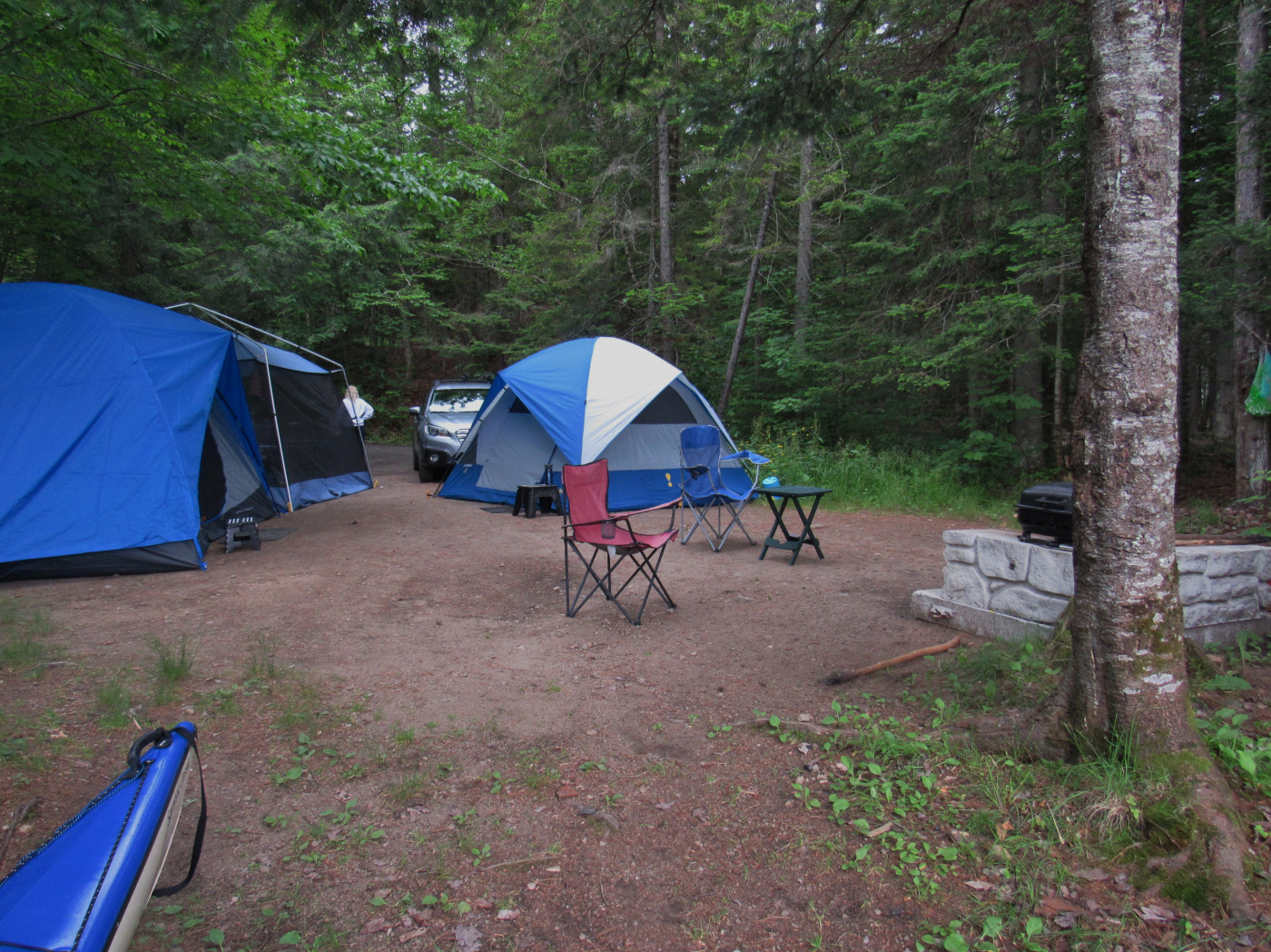 Finally camp set-up is done! Time for apps!