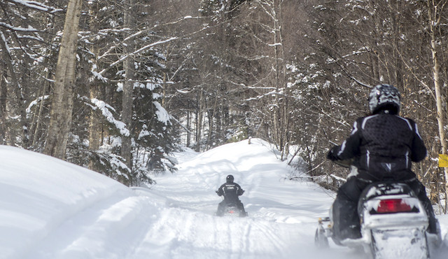 Snowmobiling in Speculator.