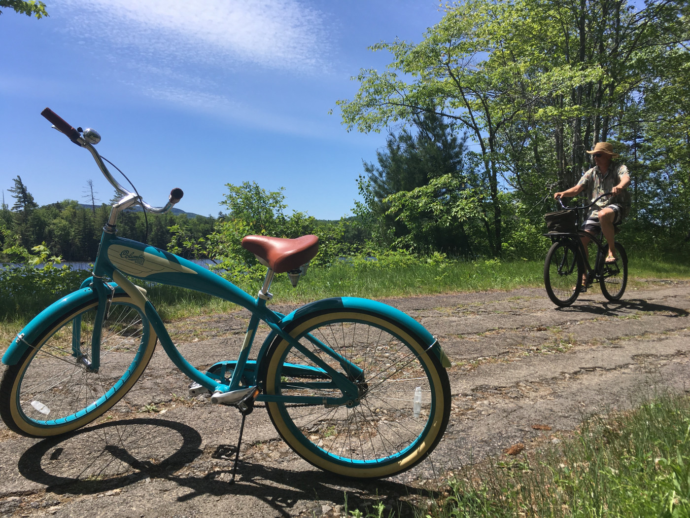Our beach cruiser bikes! Retro and stealth modes.