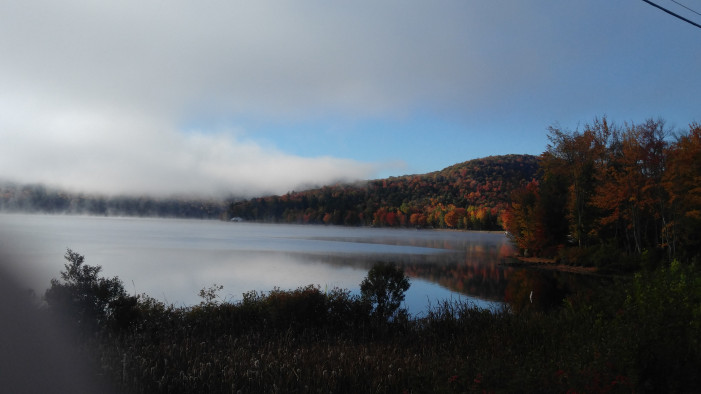 Fall Fog Over the Lake