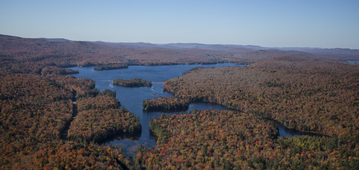 Aerial view of the Adirondacks
