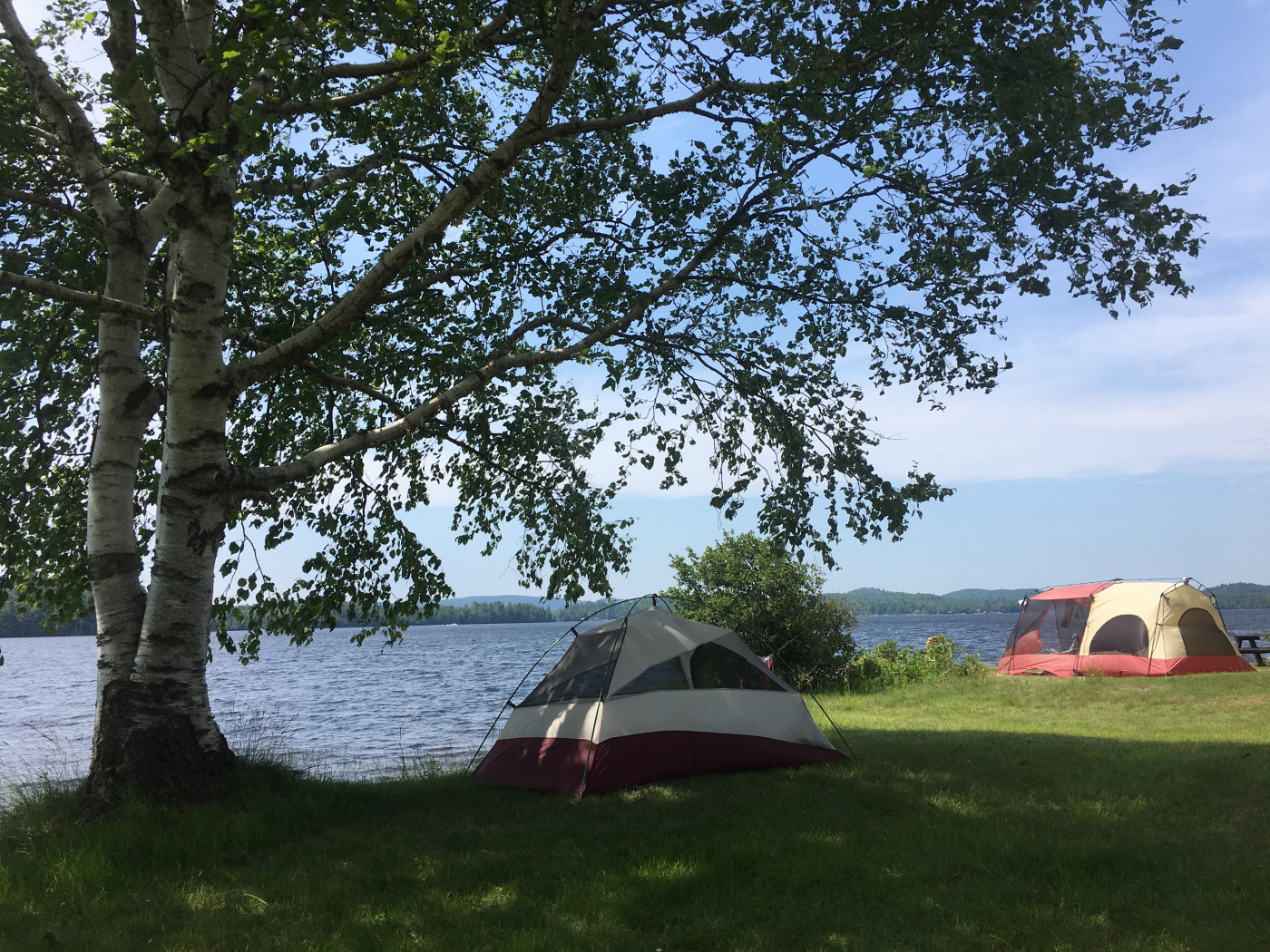 Campsites at Tioga Point, Racquette Lake