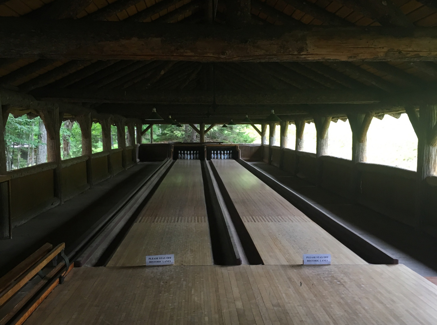 The prettiest bowling alley in the Adirondacks. Sagamore's overnight guests get to play!