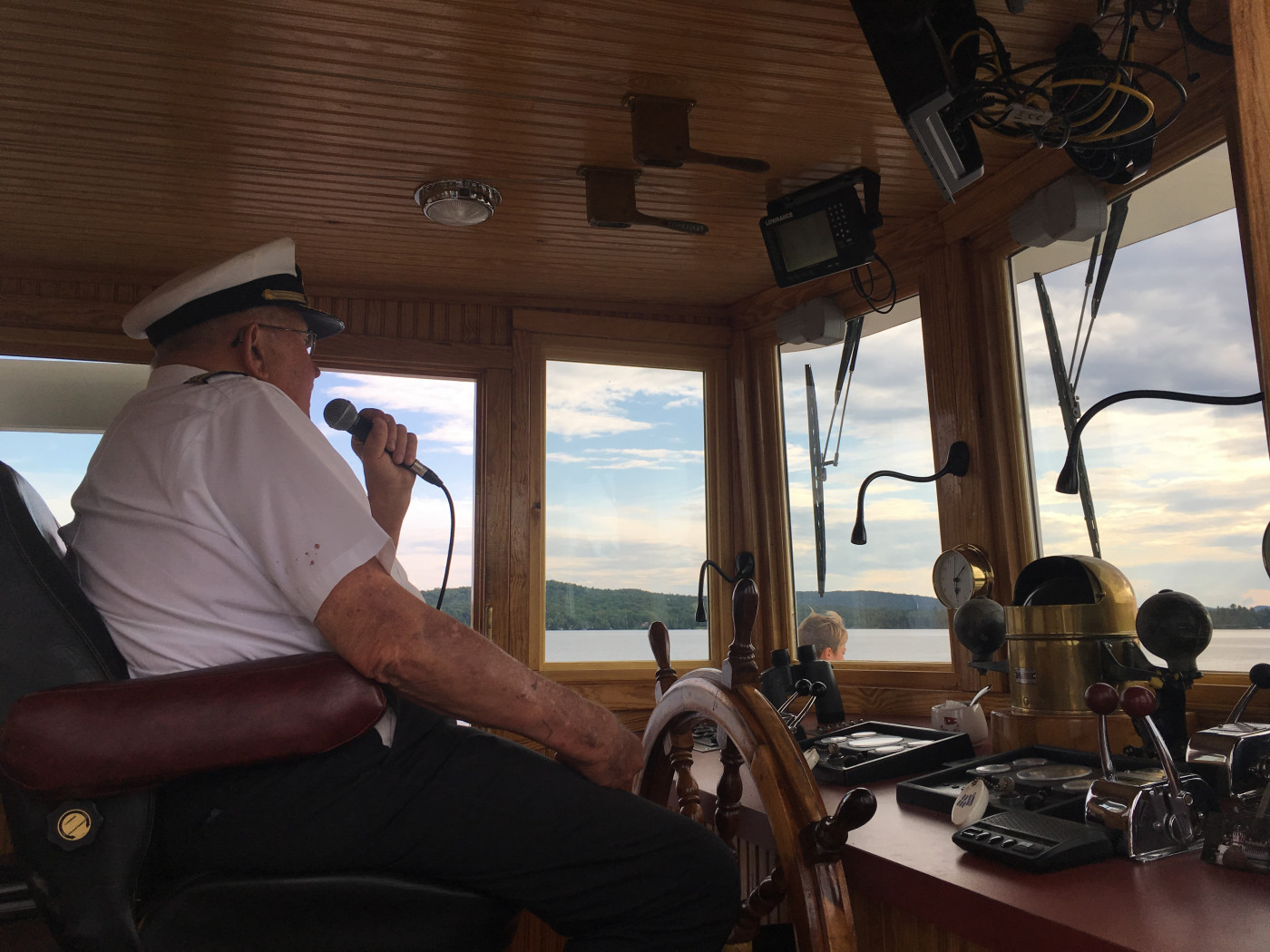 Captain Dean narrating while at the wheel.