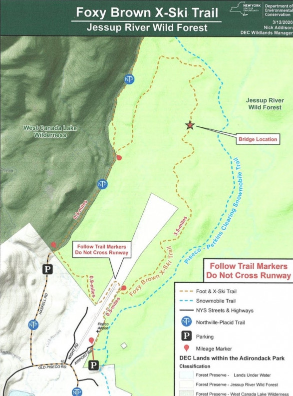 Foxey Brown Trail Map
